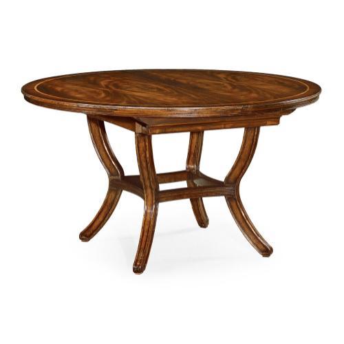 "54"" Extending mahogany dining table"