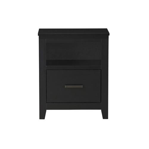 Modesto Nightstand with USB Charging Station, Black