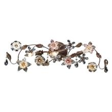 Cristallo Fiore 3-Light Vanity Lamp in Deep Rust with Clear and Amber Florets