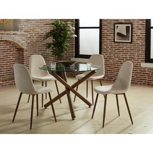 Lyna Side Chair, set of 4 in Beige