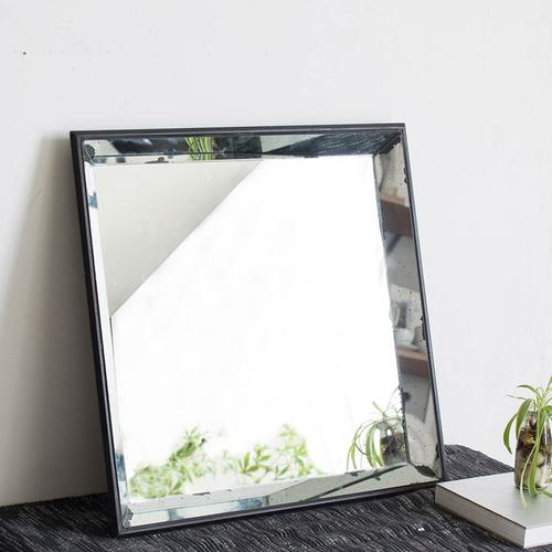 A & B Home - Mirrored Square Tray,Large