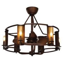 Candella 6-Light LED Chandelier with Fan