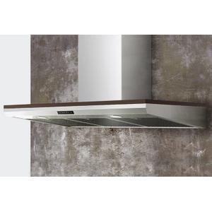"Zephyr - 36"" Edge Designer Wall Hood with Optional Wood Trim"