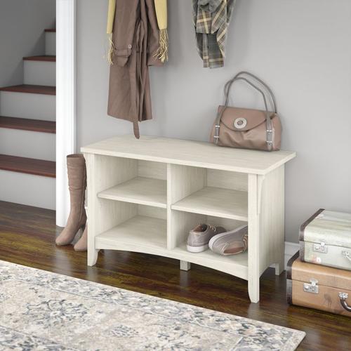Salinas Shoe Storage Bench - Antique White
