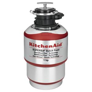 Kitchenaid1-Horsepower Batch Feed Food Waste Disposer - Red