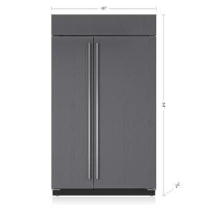 "Subzero48"" Classic Side-by-Side Refrigerator/Freezer with Internal Dispenser - Panel Ready"