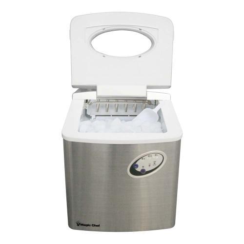 Magic Chef - 40-lb. Countertop Ice Maker