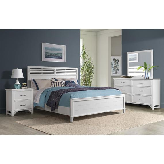 Riverside - Talford Cotton - Two Drawer Nightstand - Cotton Finish