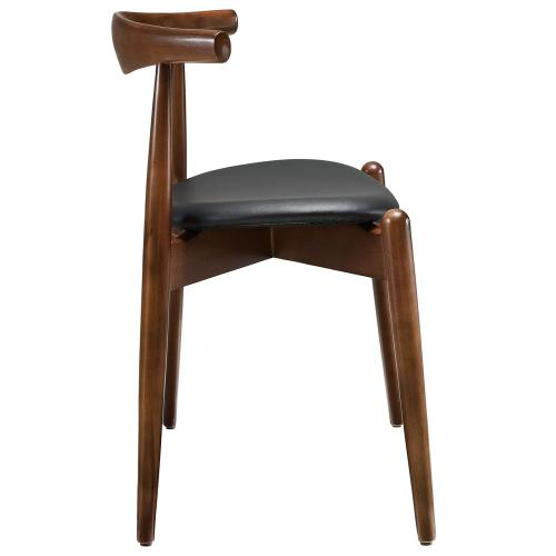Stalwart Dining Side Chair in Dark Walnut Black