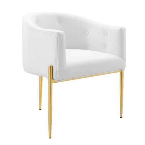 Modway - Savour Tufted Performance Velvet Accent Chairs - Set of 2 in White