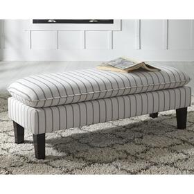 Arrowrock Accent Bench White/Gray