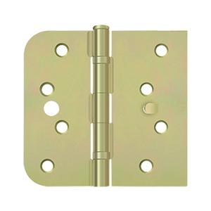 "Special Hinge for Fiber Glass Doors, 4"" x 4 1/4"" x 5/8"" Radius x SQ, Ball Bearings, Security Stud - Zinc Dichromate Product Image"