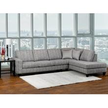 See Details - 9841 Grey Fabric Sectional Lhf Sofa Rhf Corner Chaise