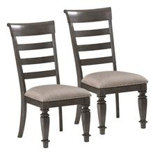 Garrison 2-Pack Upholstered Side Chairs, Burnished Grey