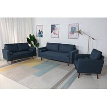 8116 3PC NAVY Linen Stationary Living Room SET