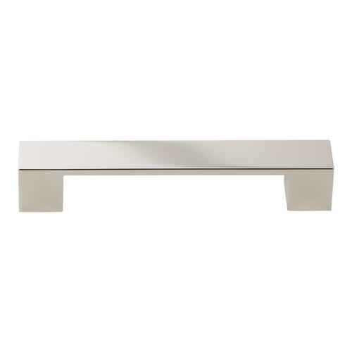 Wide Square Pull 5 1/16 Inch (c-c) - Polished Nickel