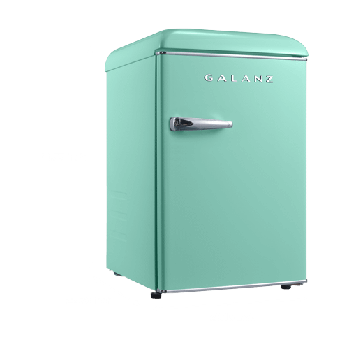 Galanz 2.5 Cu Ft Retro Single Door Refrigerator in Surf Green