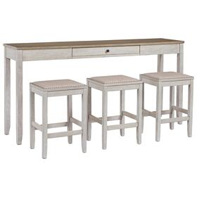 Skempton Counter Height Dining Table & 3 Bar Stools