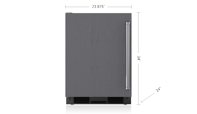 "SubzeroLegacy Model - 24"" Undercounter Refrigerator/freezer With Ice Maker - Panel Ready"