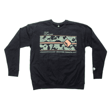 See Details - Black Pullover Sweatshirt w/ Camo Graphic-L