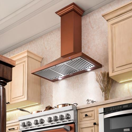 Zline Kitchen and Bath - ZLINE Designer Series Wall Mount Range Hood (8KBC) [Size: 42 inch]