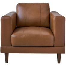 See Details - Hanover Austin 37-In. Leather Chair in Dark Tan, HUP003CH-TN