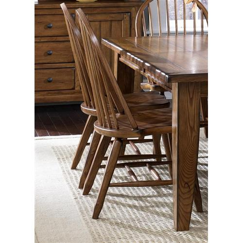 Liberty Furniture Industries - Bow Back Side Chair - Oak