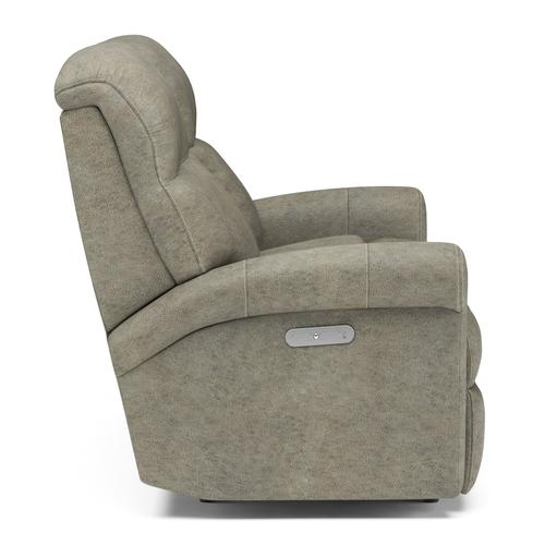 Flexsteel - Davis Power Reclining Loveseat with Console and Power Headrests