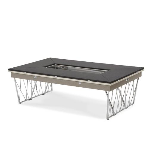 Black and Gray Caviar Rectangular Folding Cocktail Table