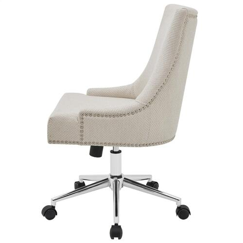 Charlotte KD Fabric Office Chair, Cardiff Cream