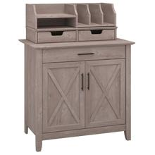 Key West Secretary Desk with Desktop Organizers - Washed Gray