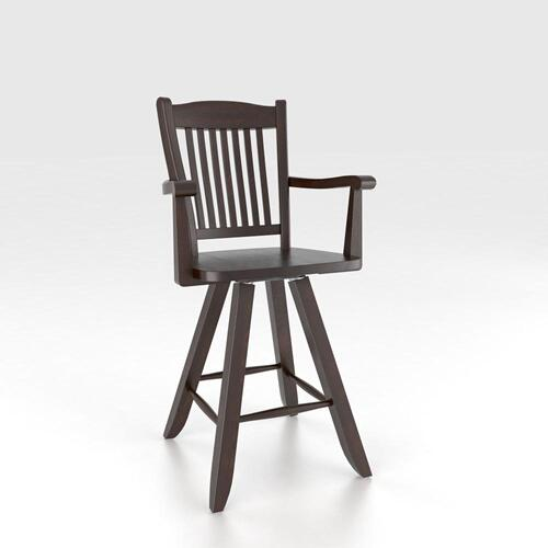 """Gallery - Swivel Barstool 30"""" with arms"""