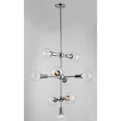 Molecule 9-Light Pendant with G40 CL LED Bulbs