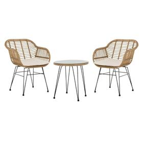 Alton 3 Piece Lounge Set - Light Brown/beige
