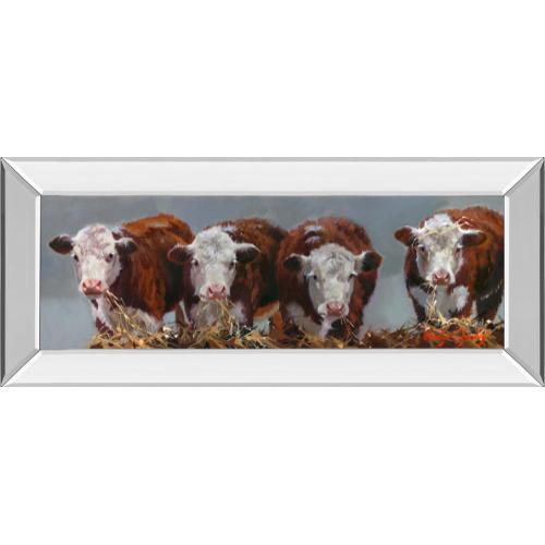 """Classy Art - """"The Diner's Club"""" By Carolyne Hawley Mirror Framed Print Wall Art"""