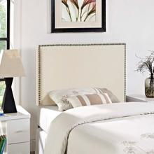 View Product - Region Nailhead Twin Upholstered Headboard in Ivory