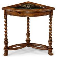 Oyster & eglomise corner table