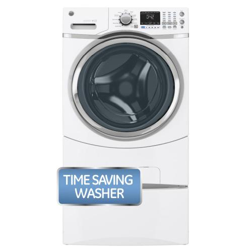 GE® ENERGY STAR® 4.3 DOE Cu. Ft. Capacity Frontload Washer (This is a Stock Photo, actual unit (s) appearance may contain cosmetic blemishes. Please call store if you would like actual pictures). This unit carries our 6 month warranty, MANUFACTURER WARRANTY and REBATE NOT VALID with this item. ISI 33631