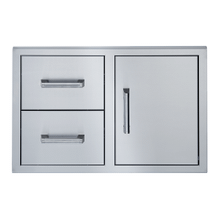 34-INCH SINGLE DOOR DOUBLE DRAWER