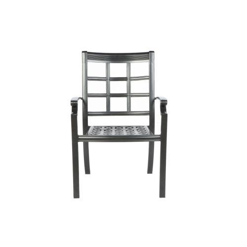 Window Pane Dining Arm Chair w/ Sunbrella cushion