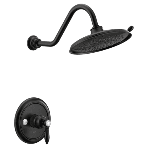 Weymouth matte black m-core 3-series shower only