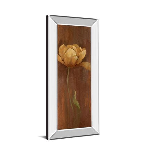 """Golden Tulip I"" By Nan Mirror Framed Print Wall Art"