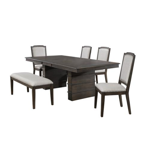 Extendable Dining Table Set w/Bench - Cali Dining (6 Piece)