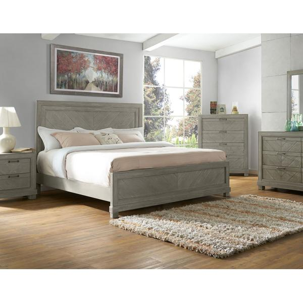Montana King Bed, Grey