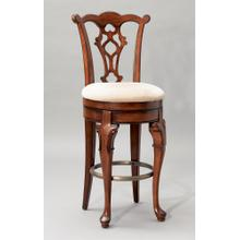 "Jamestown Landing ""Deep Cherry"" Swivel Armless Bar Stool"