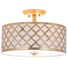 See Details - Kora 3 Light 15-inch Dia Gold Flush Mount - Gold