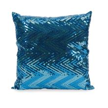 Estradin Blue Sequin Chevron Pillow