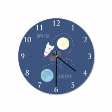 Moon & Back Round Acrylic Wall Clock