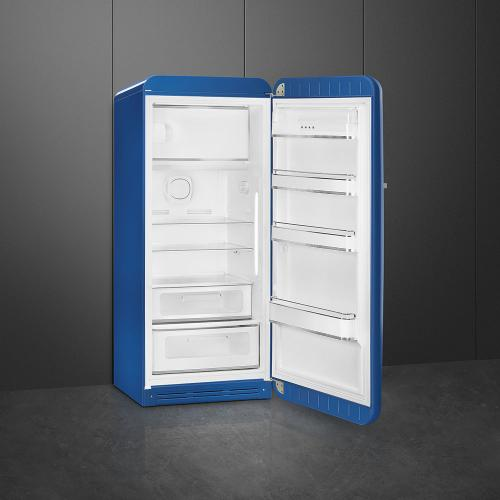 '50s Style fridge with ice compartment, Blue, Right-hand hinge, 24'' in-width