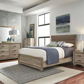 Queen Uph Bed, Dresser & Mirror, Chest, Night Stand